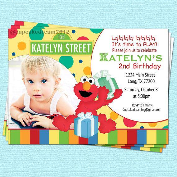 Sesame Street Invitation Elmo Inspired Birthday Printable Party On Etsy 1400