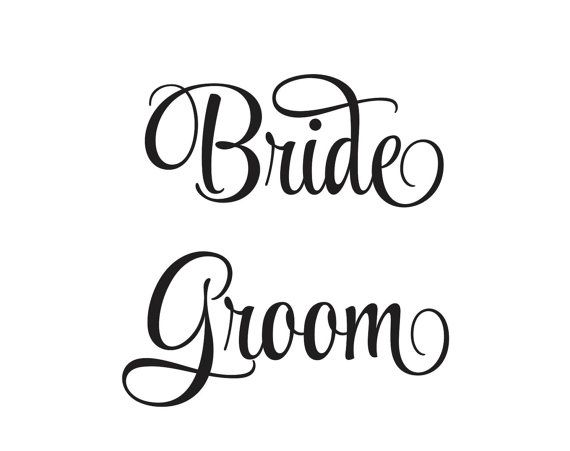 Bride and groom decals for wedding decorations vinyl lettering create your own reception signs