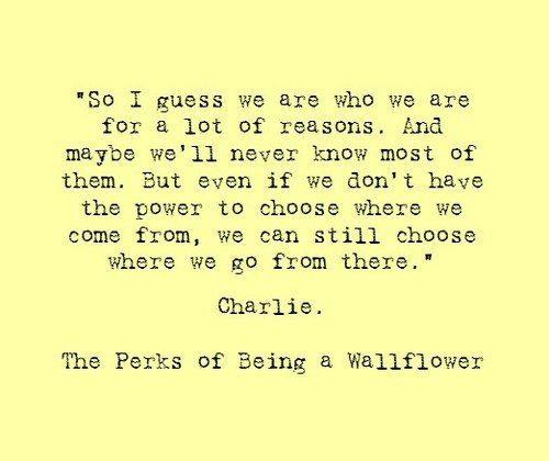 Wallflower quote