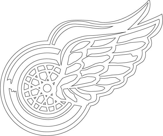 Hockey goalie coloring pages detroit red wings ~ Detroit Red Wings | The Bird Shack Birdhouses by Sonya ...