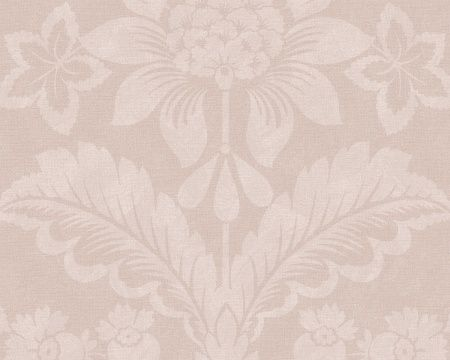 Wallpaper Harriet, Pink.  Harriet Wallpaper is a medallion wallpaper linked to New England's European heritage and design tradition. Medallion patterns are among the most classic of designs and have been around as wallpaper since the first pioneers came to New England. Harriet is printed using an engraving technique that produces a textile feel, making the room cosy and homely.