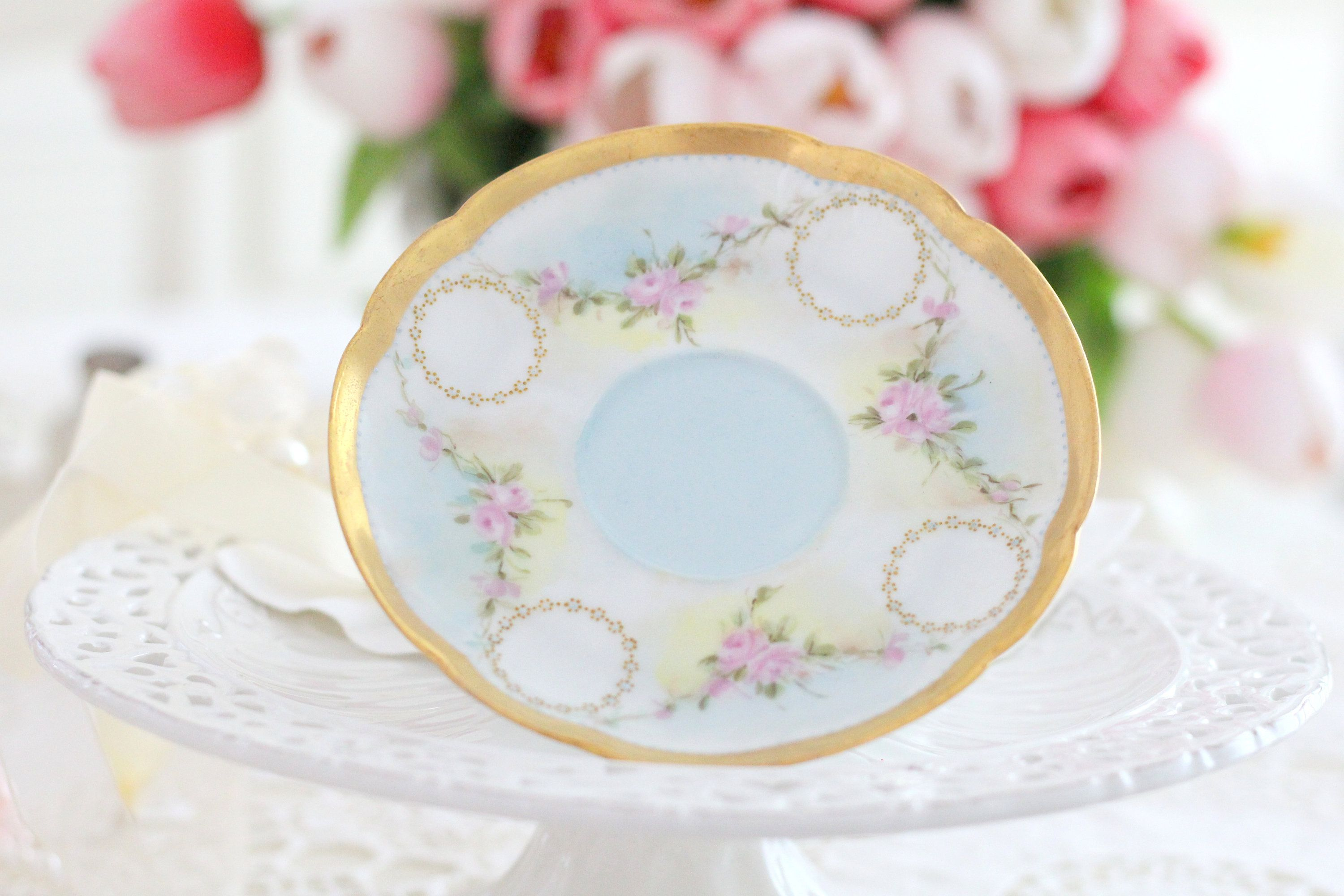 France Limoges ANTIQUE PLATE by Theodore Haviland Replacement China ca 1904-1920s