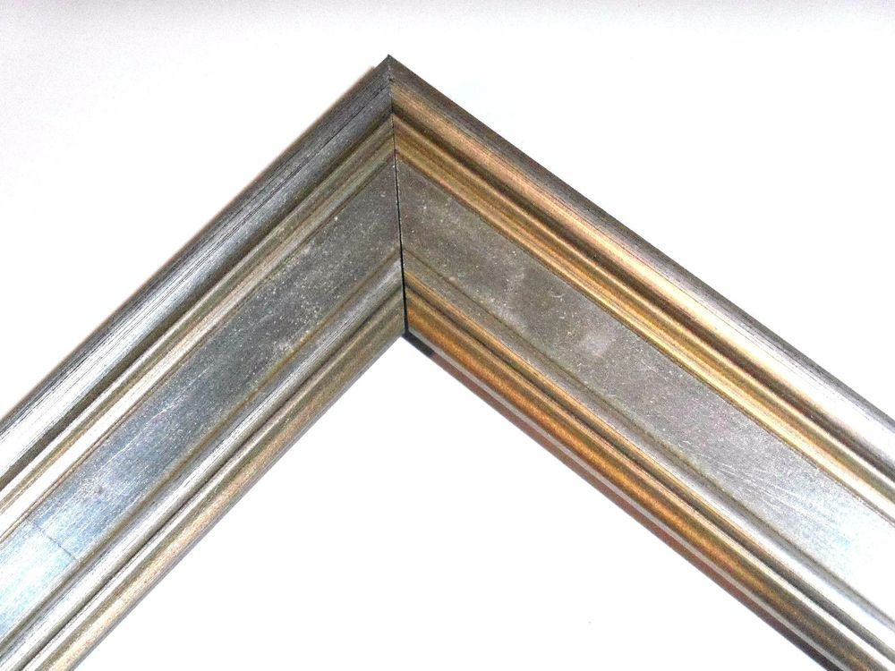 1 1/4 Small Aged Silver Leaf Plein Air Picture Frame