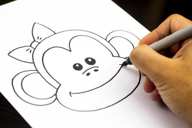 How To Draw A Monkey Art For Kids Hub Art For Kids Hub Drawing For Kids Monkey Art
