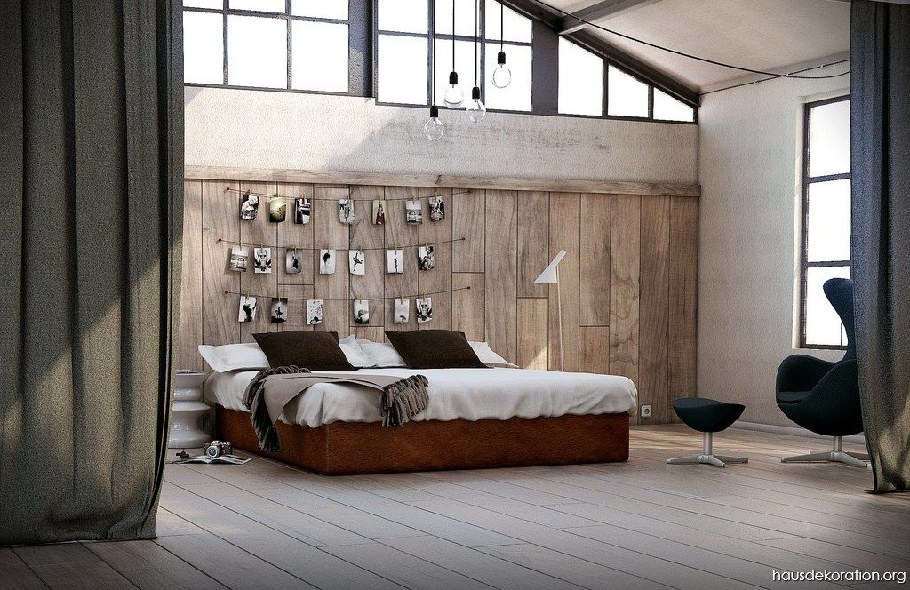 idee fr dunkles stylishes interieur rote motive im schlafzimmer