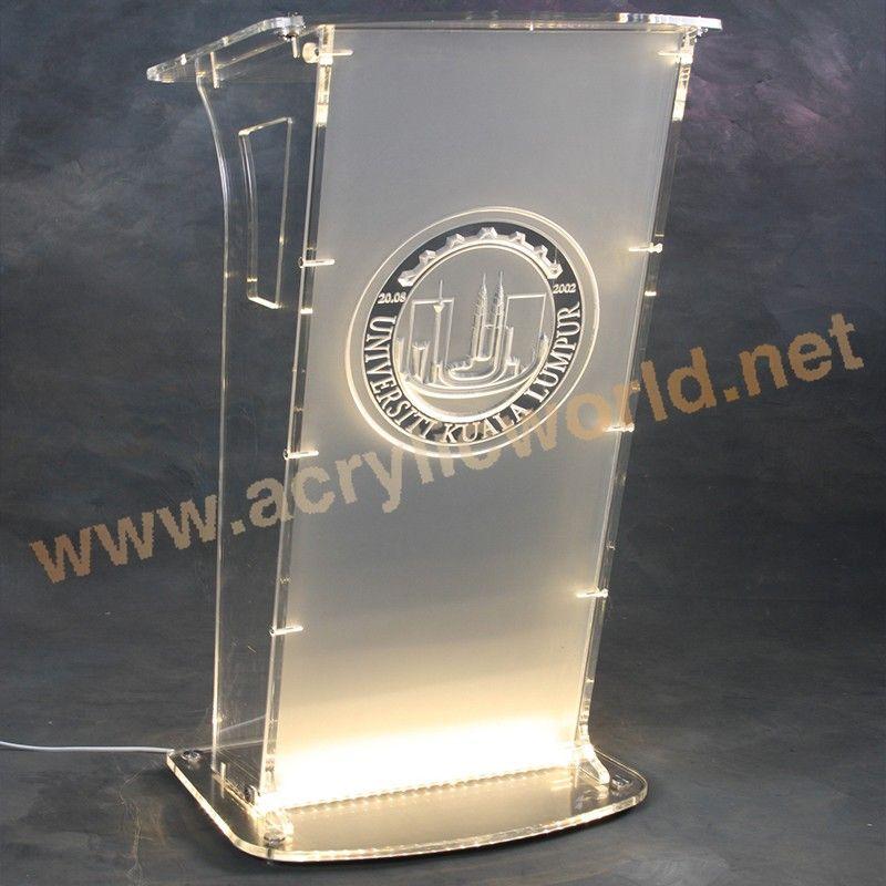 Nuovo design personalizzato acrilico podio pulpito leggio for Design personalizzato