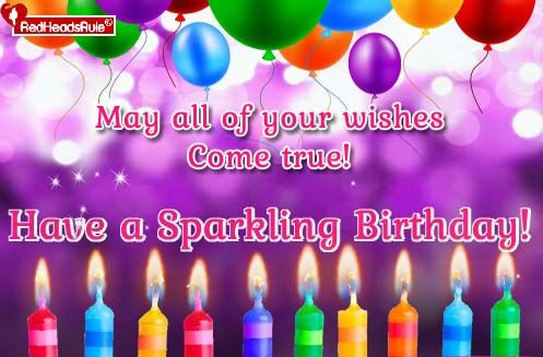 Whatsapp Sparkling Birthday Blessings To Your Loved Ones With