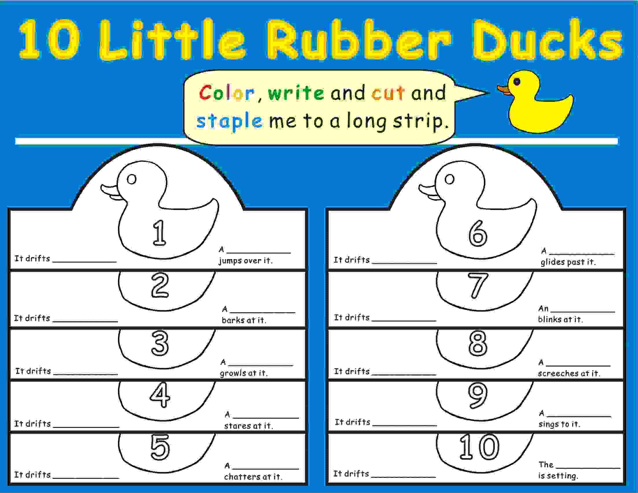 Eric Carle 10 Little Rubber Ducks Headbands