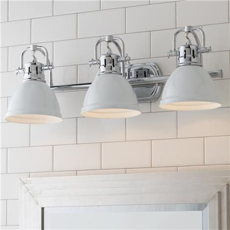 Classic Dome Shade Bath Light   3 Light