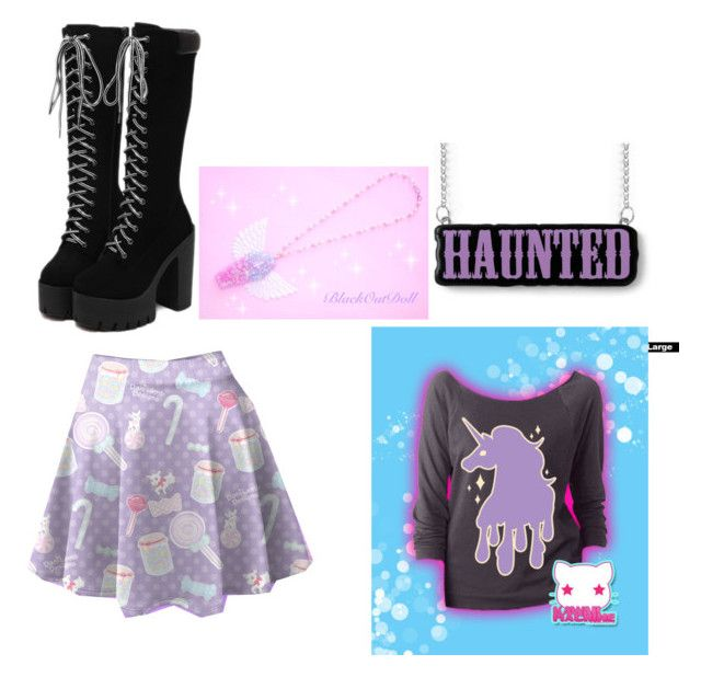 """Pastel goth #7"" by kyleigh-rodgers on Polyvore"