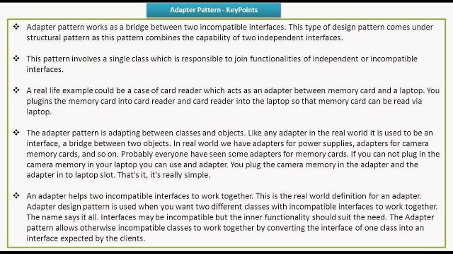 Java Ee Adapter Design Pattern Keypoints Pattern Design
