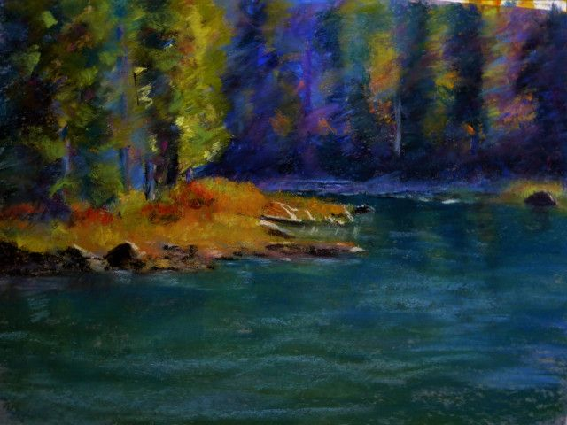Goose Lake - Margaret Parker Brown - soft pastel 11 x 14 inches