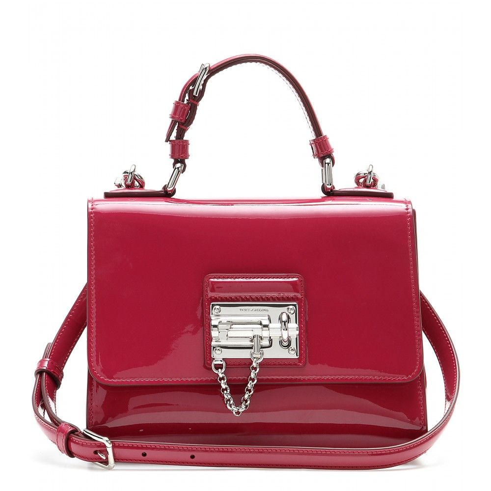 2c9297da9370 Dolce   Gabbana - Monica Small patent leather shoulder bag - Dolce    Gabbana s  Monica  shoulder bag has been crafted from glossy raspberry-pink  patent ...