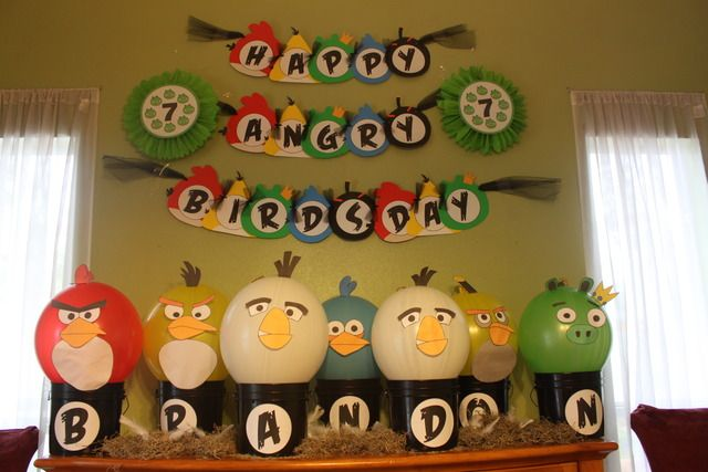 My son's Angry Birdsday party