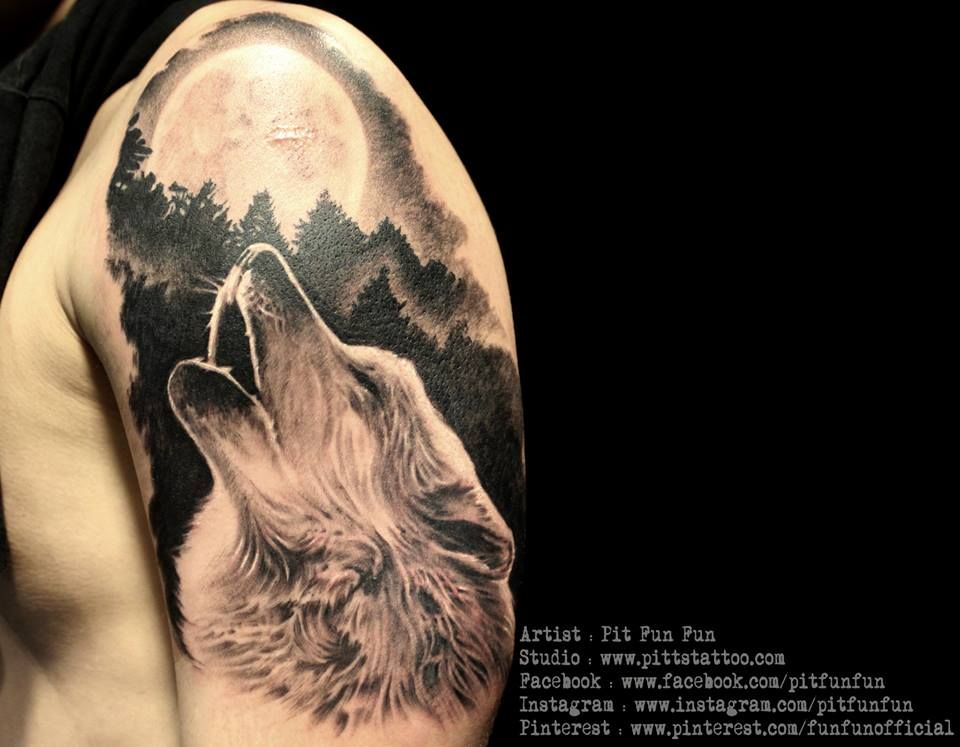 28 howling wolf face tattoo with 25 best ideas about