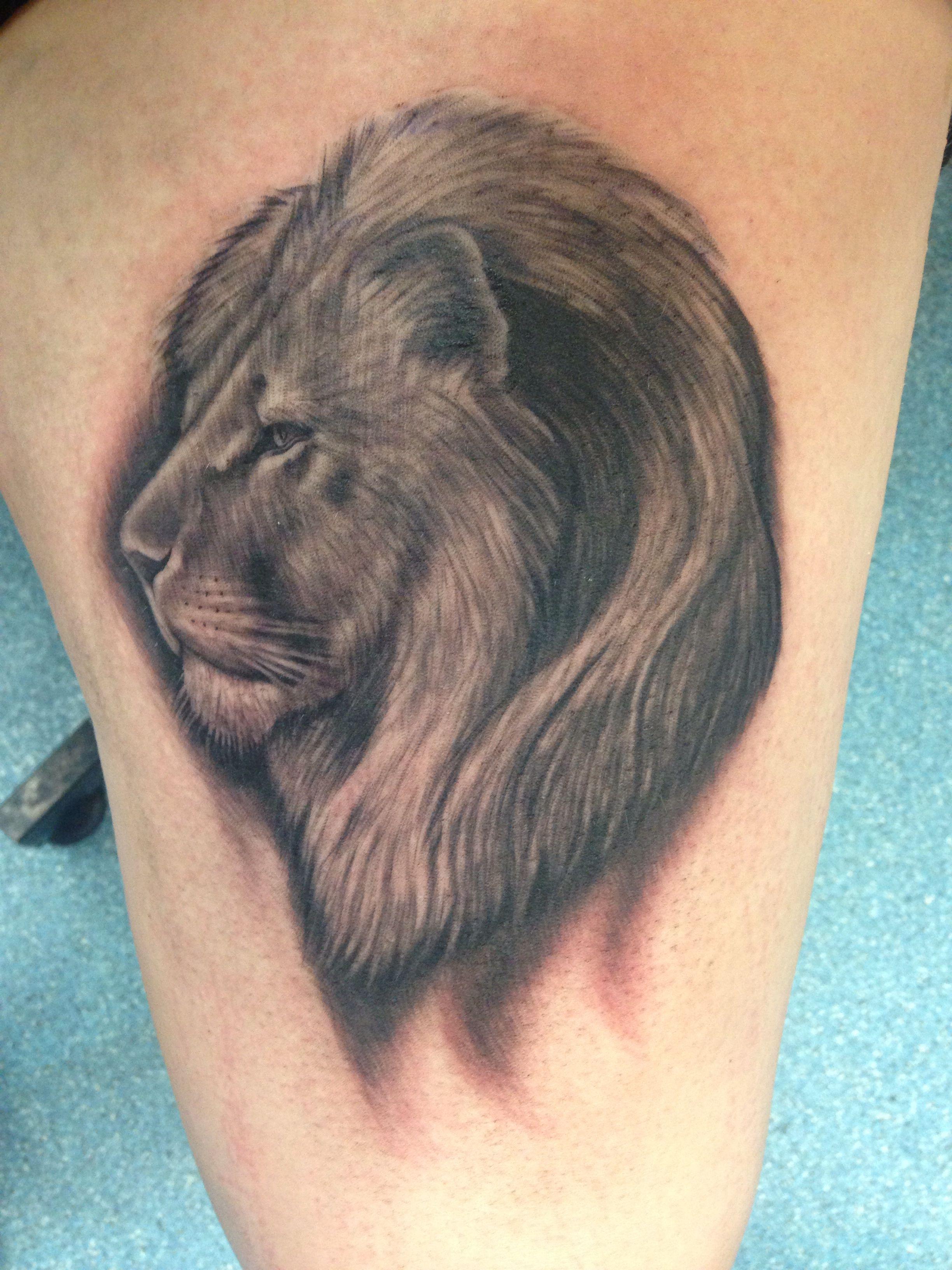 Lion Tattoo - Jason Morrow, Omaha Nebraska