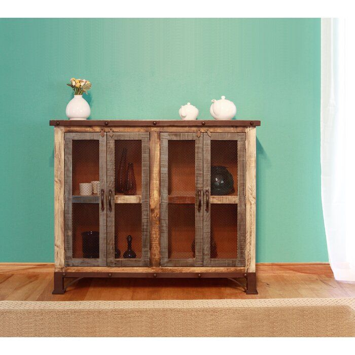 Tosha Sideboard Wood Wood And Metal Wood Sideboard