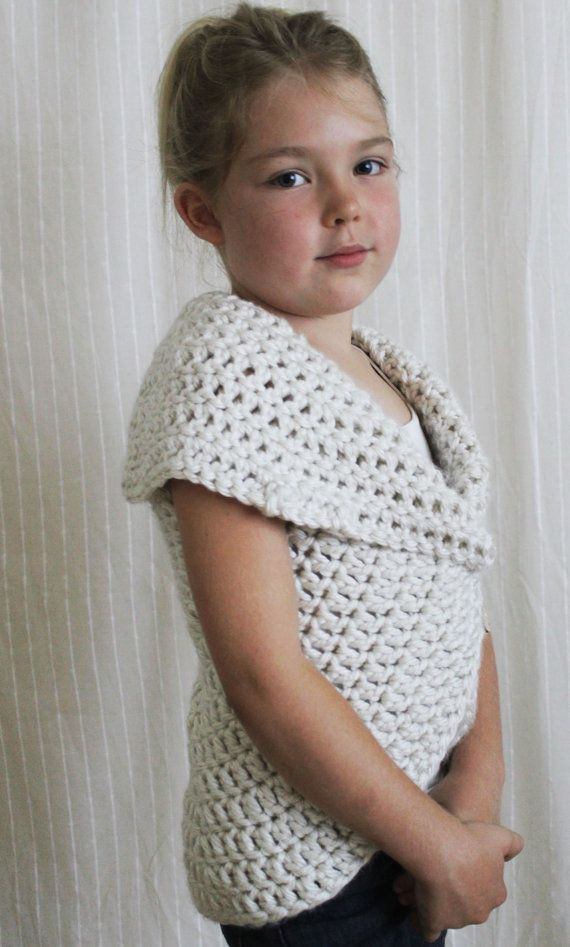 Patrón de ganchillo: La Julia Sweater-niño por NaturallyNoraCrochet ...