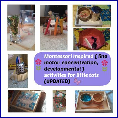 Montessori Inspired activities for toddlers