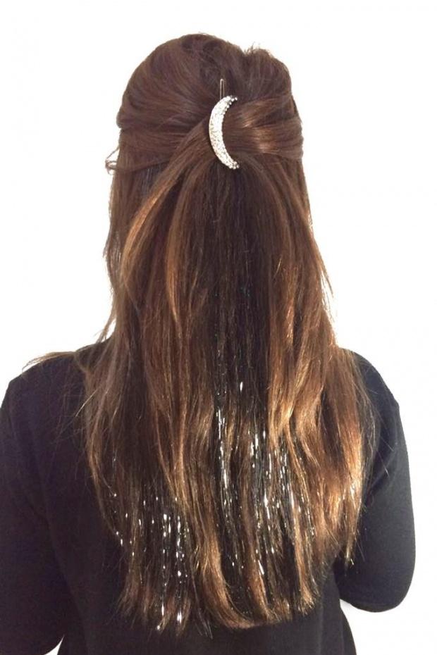 Cit Citli Siyah Hair Tinsel Uzun Sac Sac Stilleri Sac