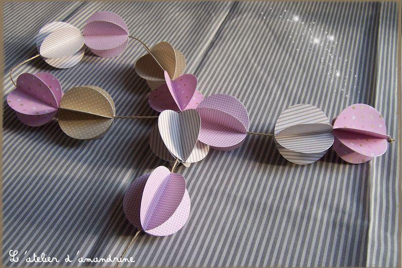 comment faire une guirlande en papier l 39 atelier d 39 amandrine designs pinterest. Black Bedroom Furniture Sets. Home Design Ideas