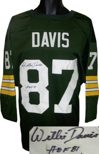 36320e0e9 Willie Davis signed Green Bay Packers Green Prostyle Jersey 3 4 Sleeves HOF  81 .