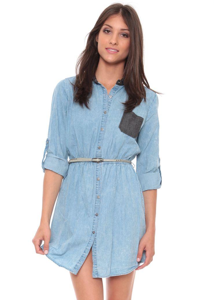 Grayson Shop | Denim Button Down Shirt Dress $17 | Grayson Shop ...