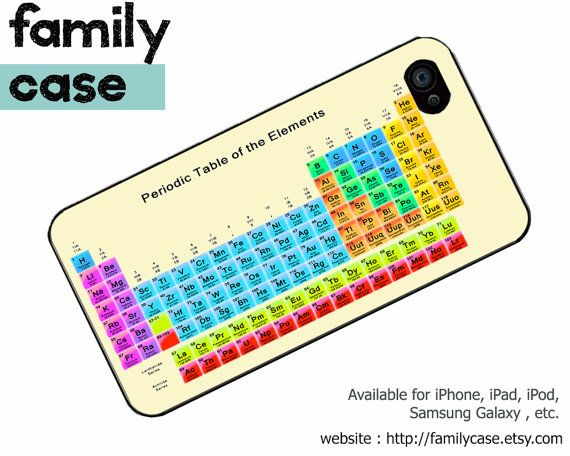 iPhone 4 Case iPhone 5 Case, iPhone 4S hard case, Cute iPhone 5 cover, Unique iPhone 4 Cases - Periodic Table Chart (inspired)