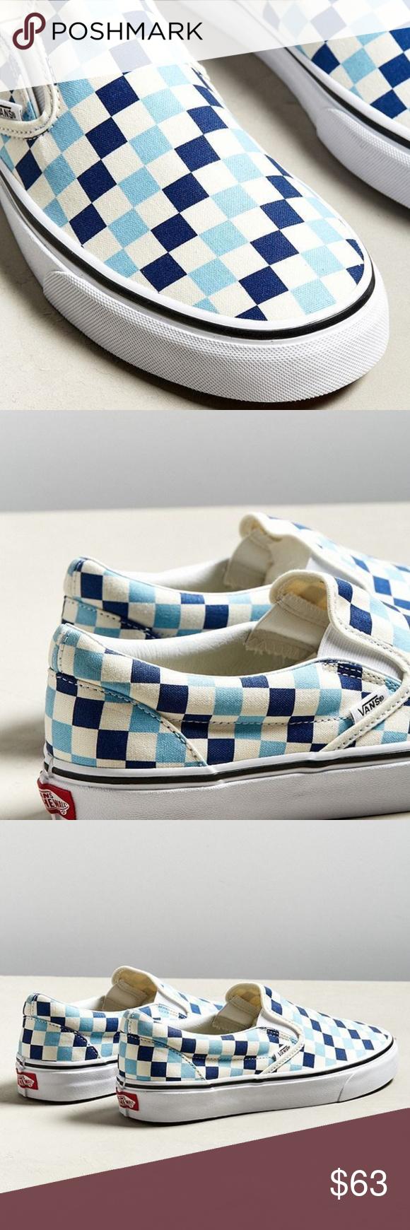 Vans-CHECKERBOARD-SLIP-ON-BLUE-TOPAZ-BLUE-UNISEX- Boutique  afb4a9393
