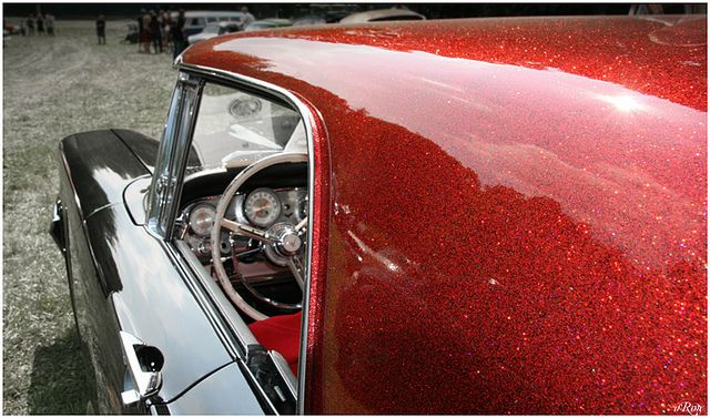 Metal Flake T Bird Flakes And Cars