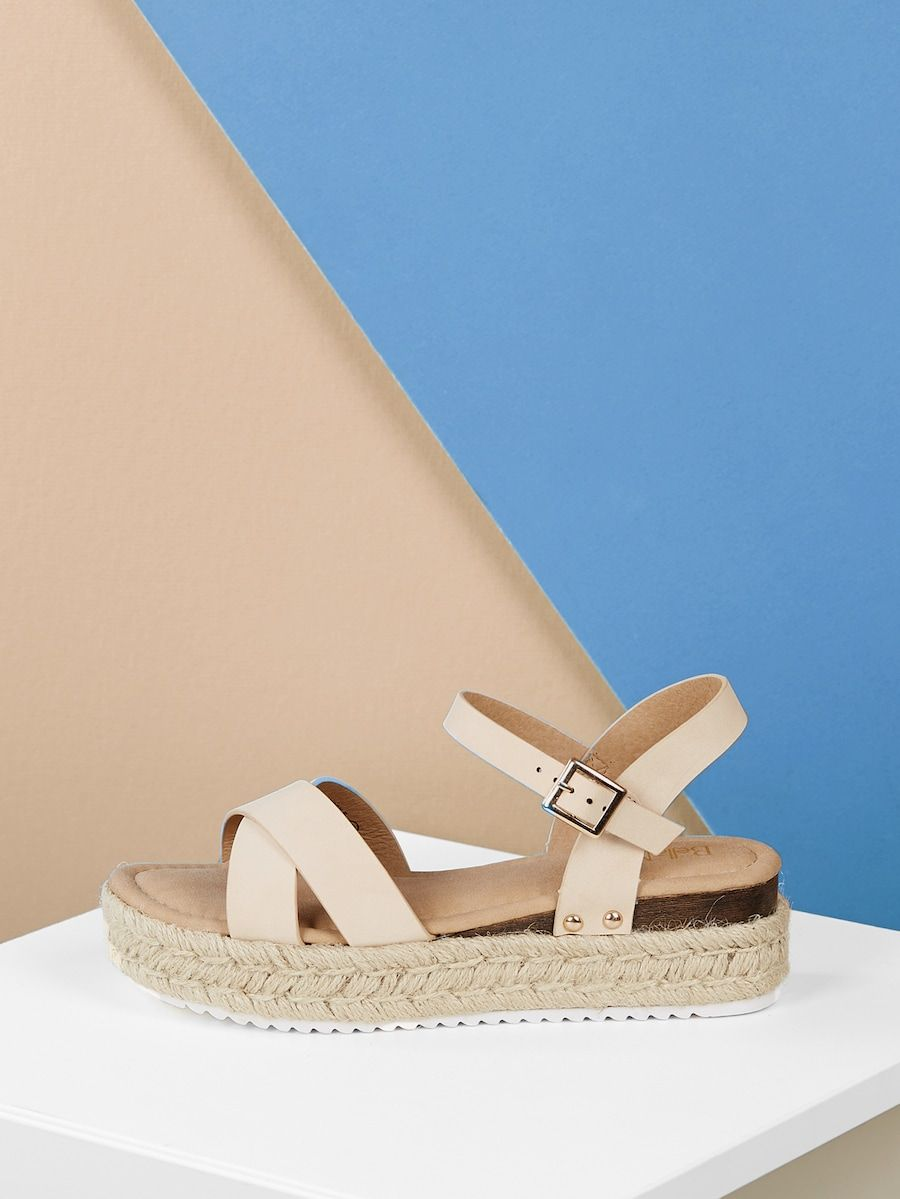 Wrap Front Ankle Strap Open Toe