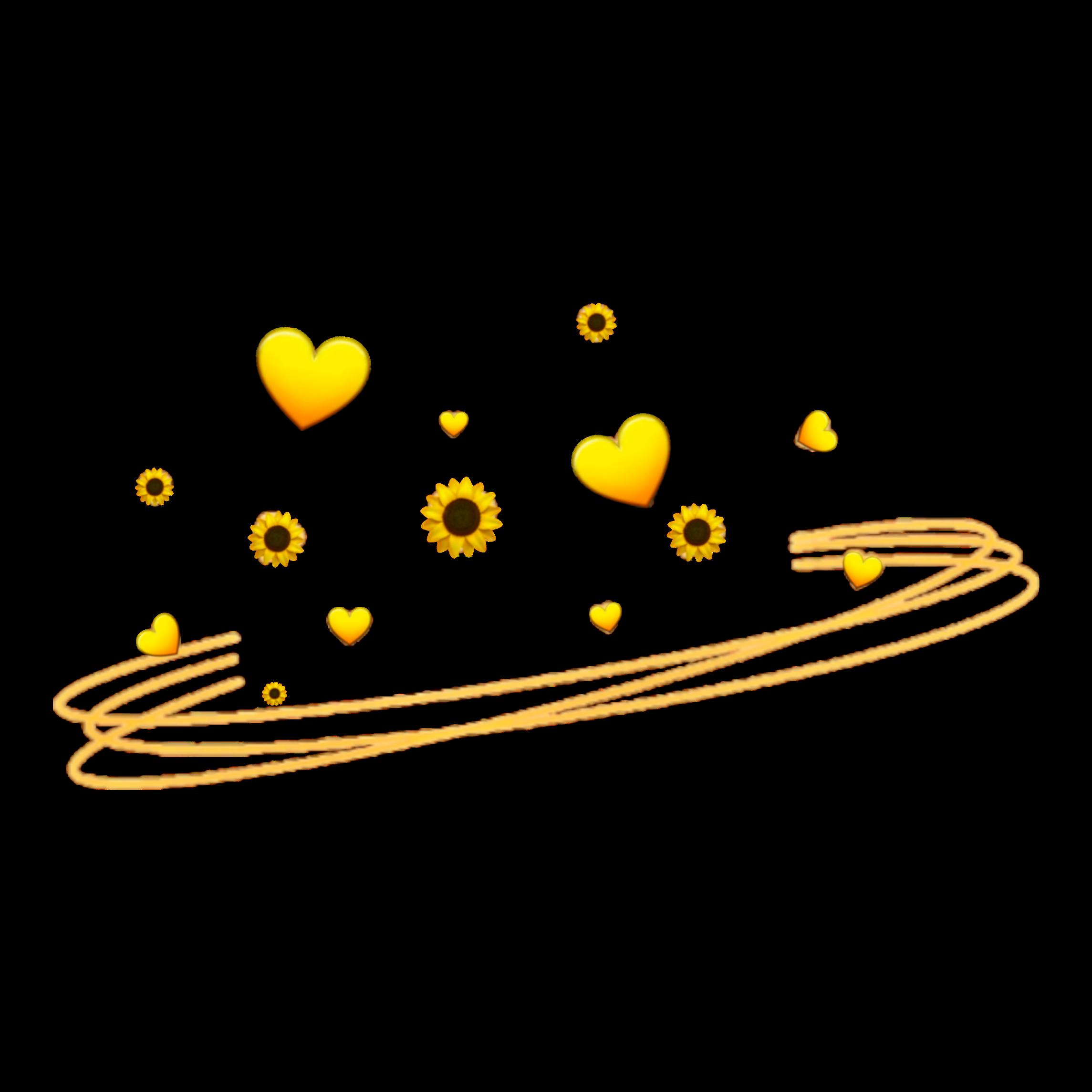 Emoji Whatsapp Sunflower Crown Crownflower Emojicrown Heartemoji Heart Yellow Freetoedit Remixed From Th Emoji Flower Anime Flower Emoji Wallpaper