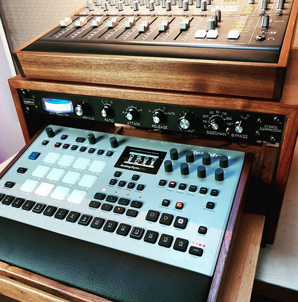 Walnut Rack, Elektron Lux and X-Desk Lux wooden panels by