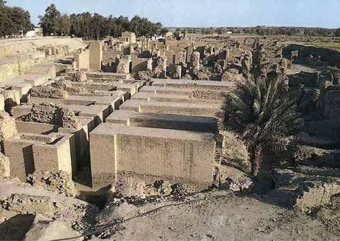 Ruinas De Los Jardines Colgante De Babilonia Jardines Colgantes