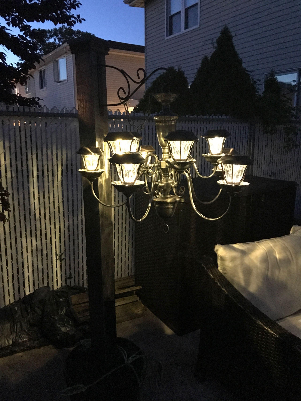 solar powered chandelier on solar powered chandelier outdoor solar solar power diy solar light crafts pinterest