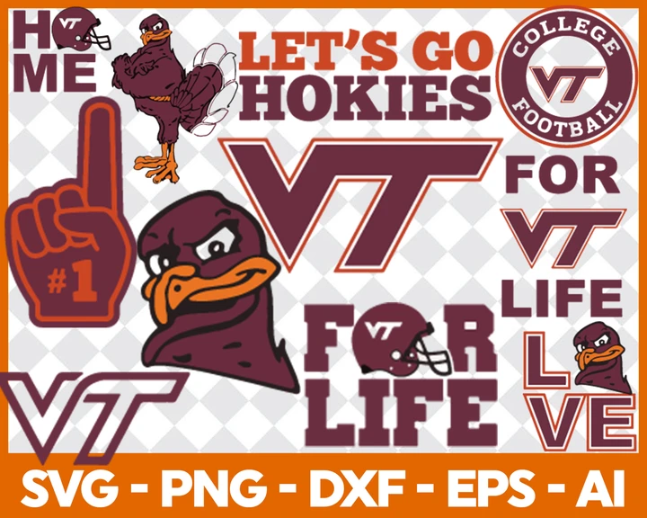 Virginia Tech Hokies SVG,SVG Files For Silhouette, Files