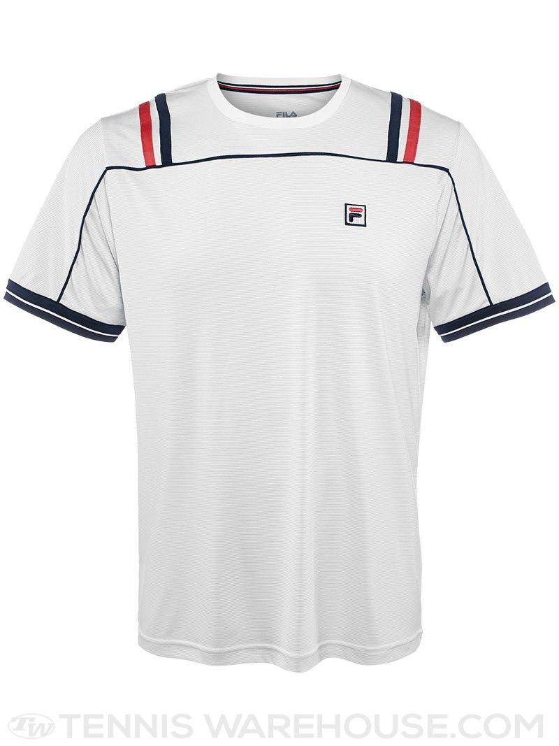 99713e27 Fila Men's Spring Heritage Striped Tennis Crew | Men's Tennis Wear ...