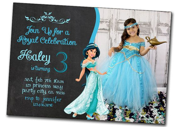 Printable Jasmine Birthday Invitations ~ Invitation cards maker in cebu best princess jasmine birthday