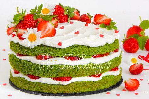 Шпинатный торт с клубникой   Рецепт   Рецепты тортов ...