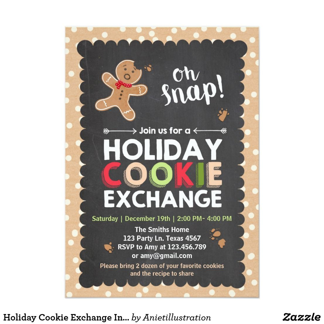 Holiday Cookie Exchange Invitation Christmas ♥ A perfect way to ...