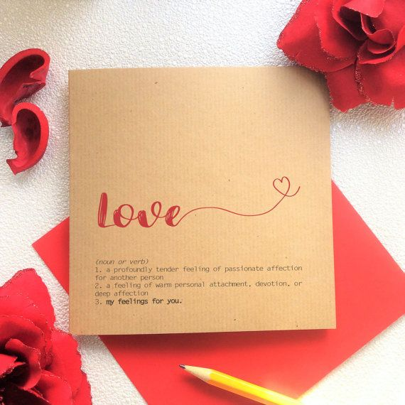 Valentines card love definition of love meaning of love blank card love definition of love meaning of love valentines girlfriend boyfriend anniversary wife husband lesbian gay kraft stopboris Images