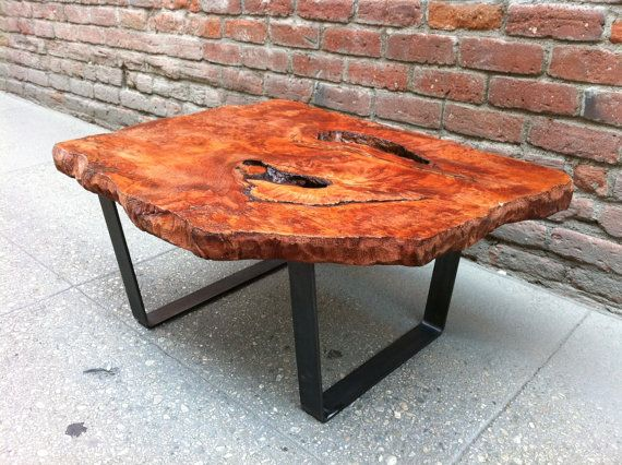 SOLD Amazing Redwood Burl Live Edge Coffee Table