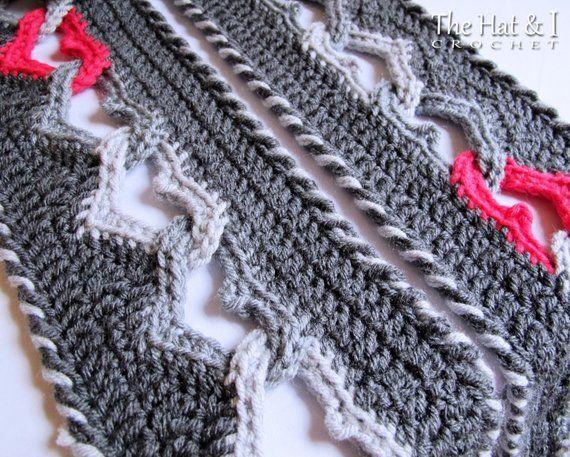 Crochet Scarf Pattern Sweetheart Scarf Crochet Pattern For