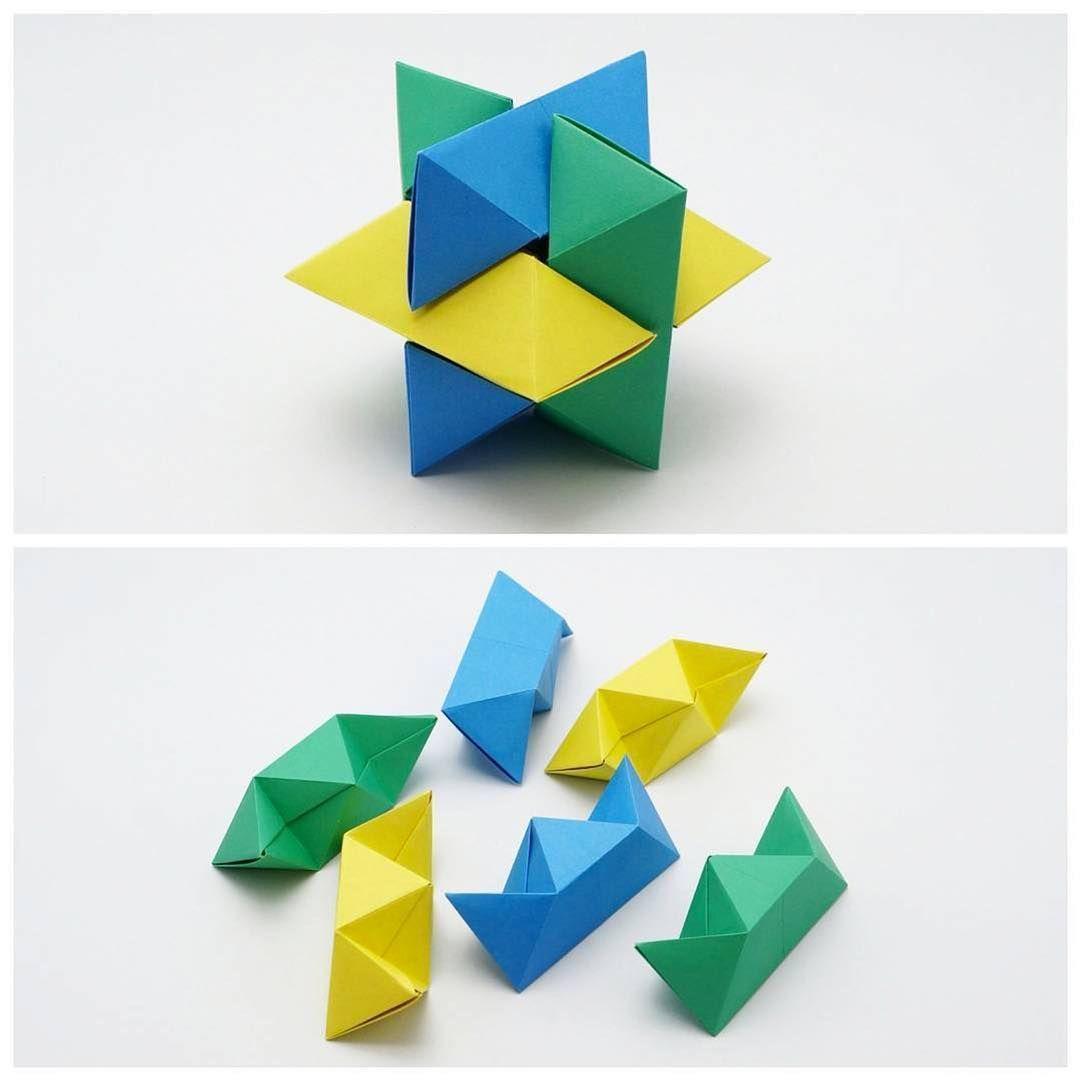 Origami Burr Puzzle (Froy) • Folded by @jonakashima