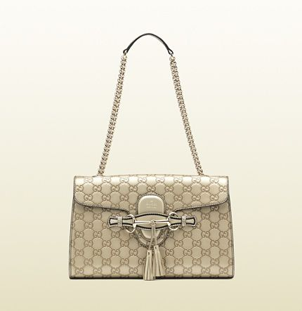 e9202539358 Shop for Emily Guccissima chain shoulder bag by Gucci at ShopStyle.