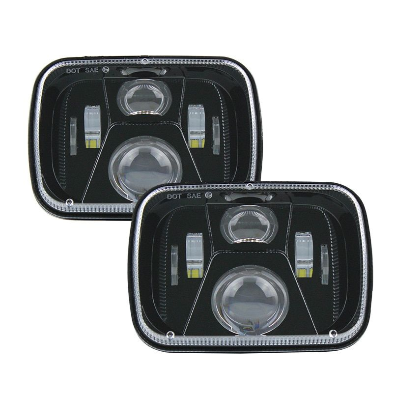 A Pair 5 U00d77 Led Headlight Rectangular 6 U00d77 Inch 55w High