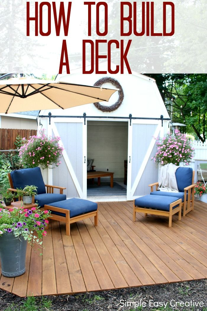 Do You Have Weekend Plans Learn How Easy It Is To Build This Ground Level Deck Deck Farmhouse Ad Thompsonswsea Building A Deck Ground Level Deck Diy Deck