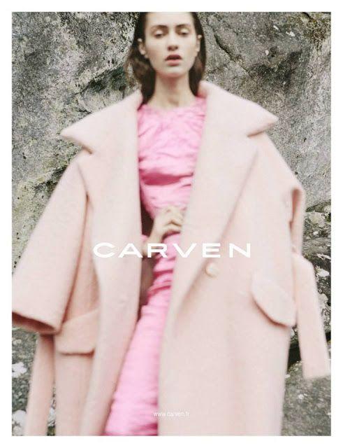 Oversized pink coat, Carven
