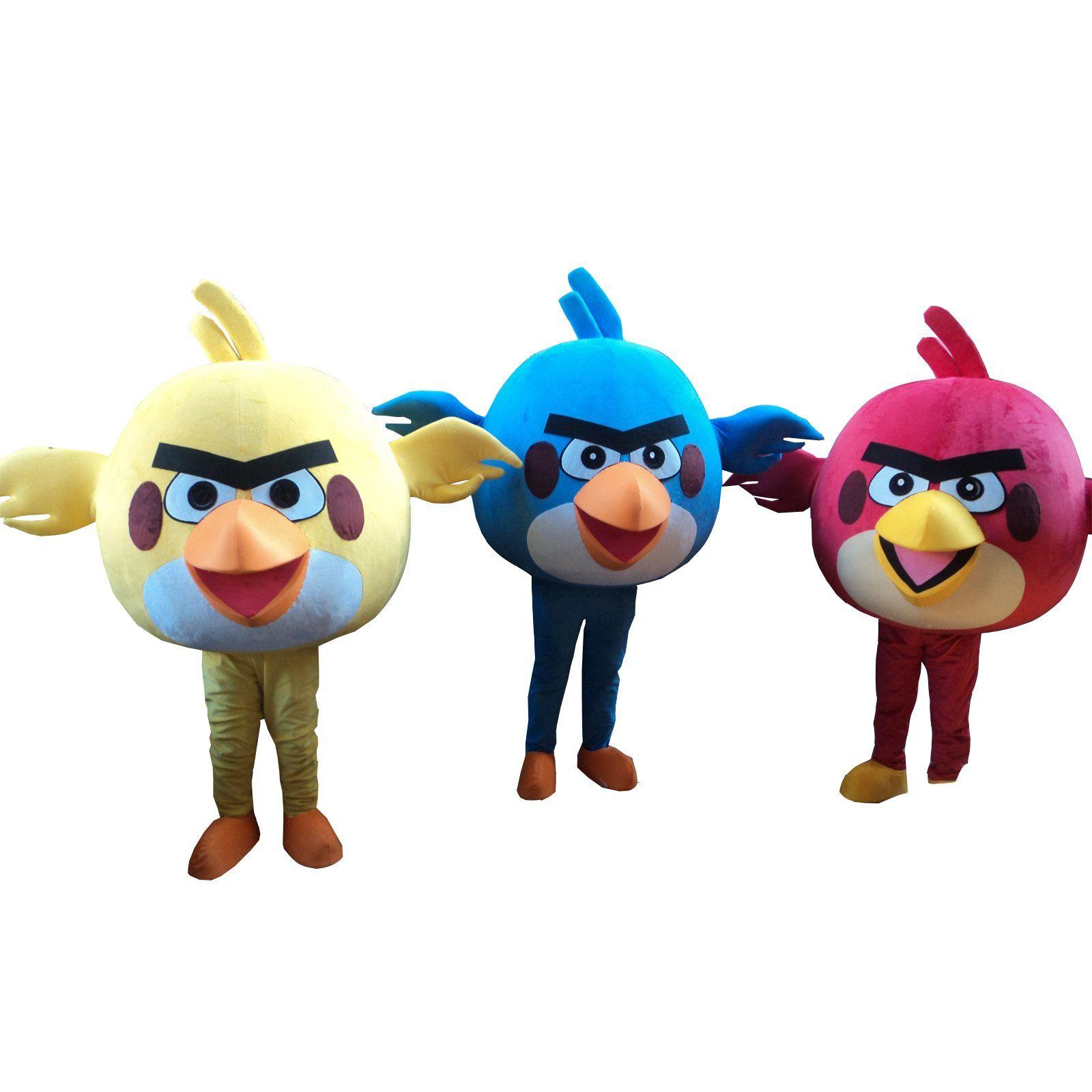 Angry birds bird halloween adult mascot costume fancy