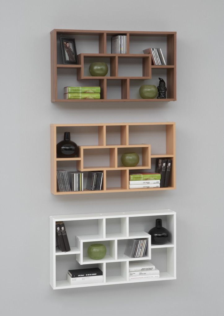Details about Novo Floor Standing Wood Display Shelf ...